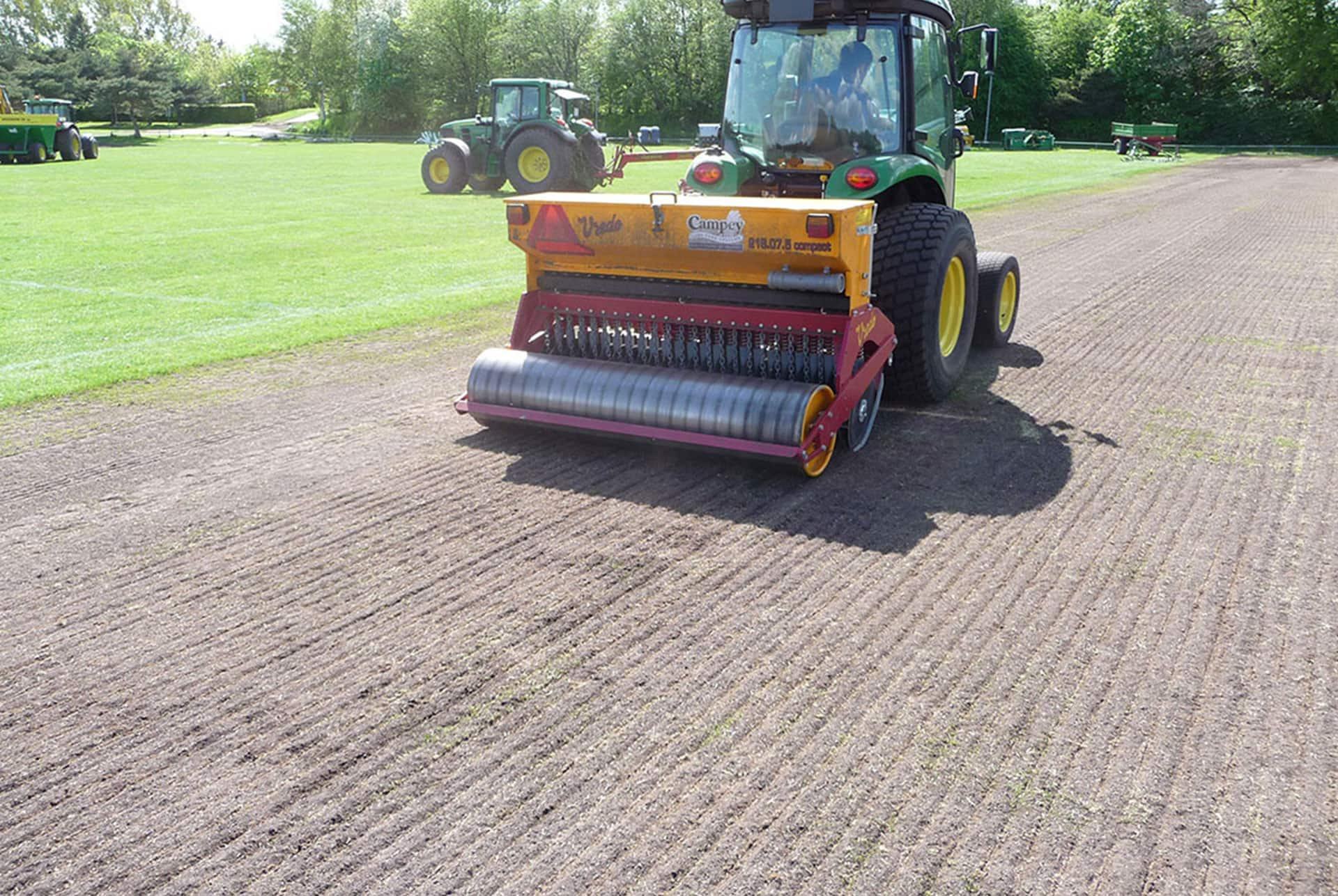 Compact Tractor Seeder : Vredo compact series campey turf care systems