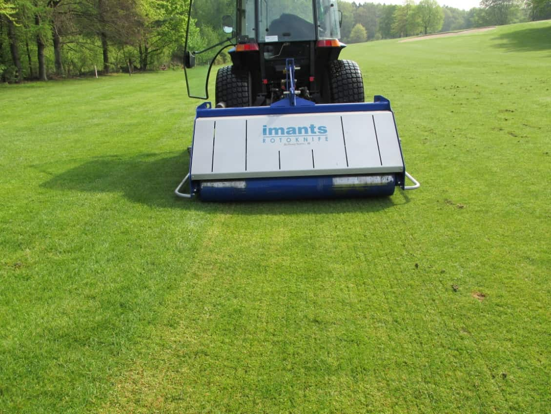 Rotoknife working on eliminating chafer grubs