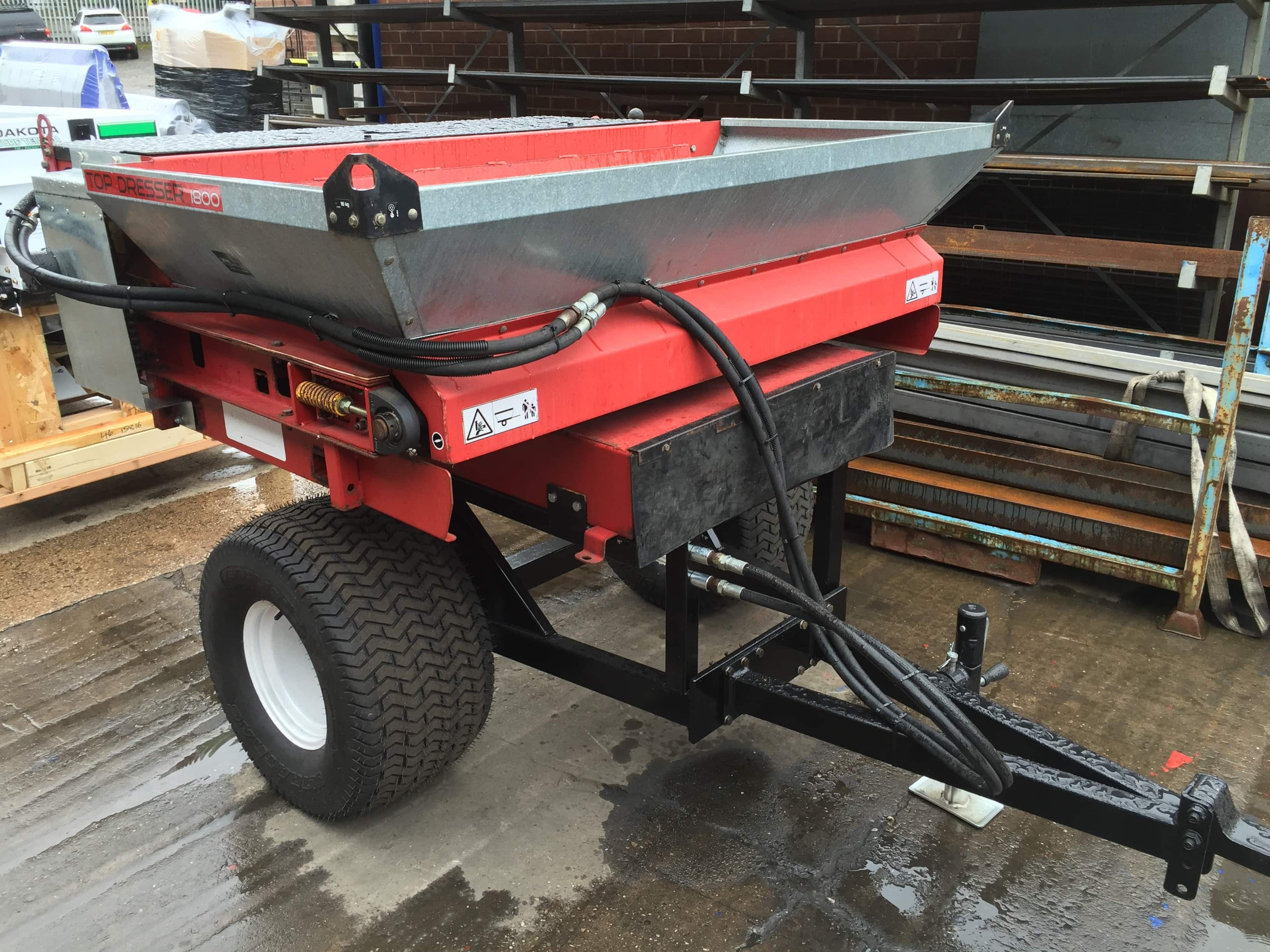 Sand Spreaders For Tractors : Used products topdressers sand spreaders campey turf