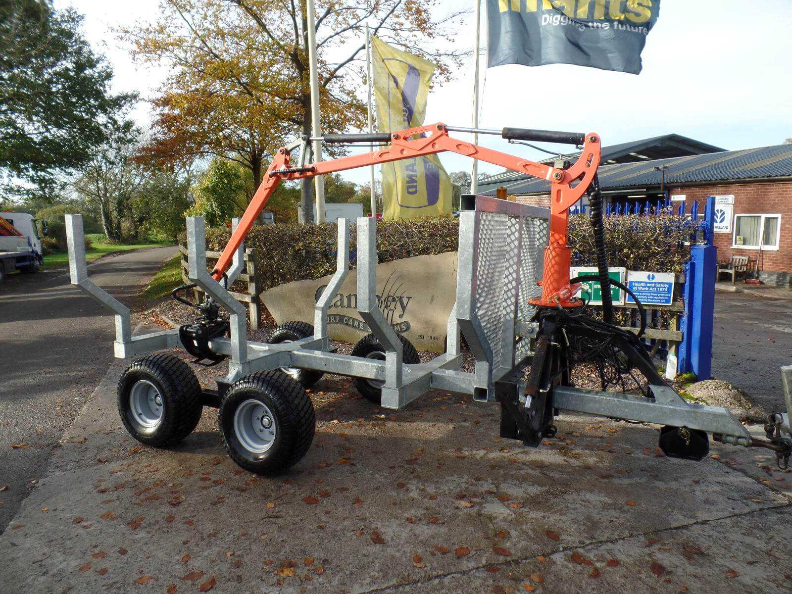 Forwarder Trailer Uxxx Campey Turf Care Systems